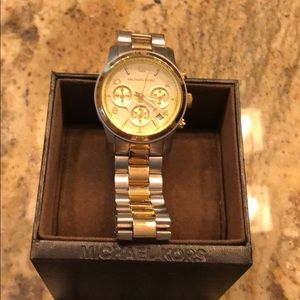 Michael Kors Two Tone Runway watch Unisex